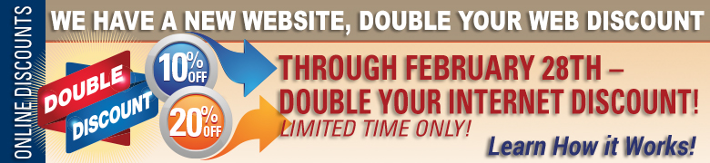 Online Double Discounts Available