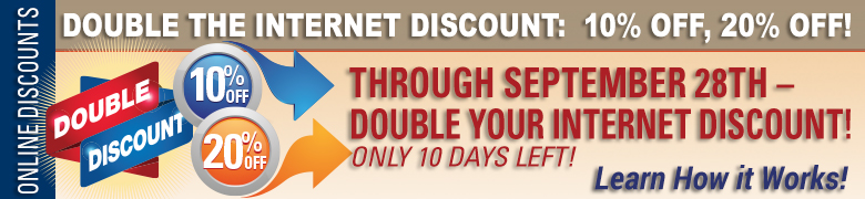 Double the Internet Discount: 10% off, 20% off!