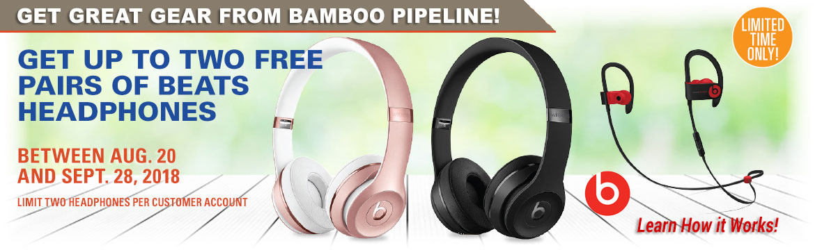 Get Up to Two FREE pairs of Beats Headphones