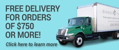 Free Delivery for orders of $750 or more!