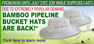 Bamboo Pipeline Bucket Hats are Back!