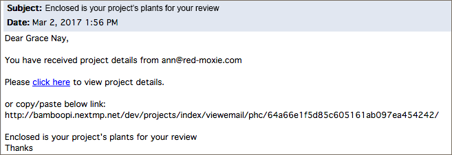 sample email